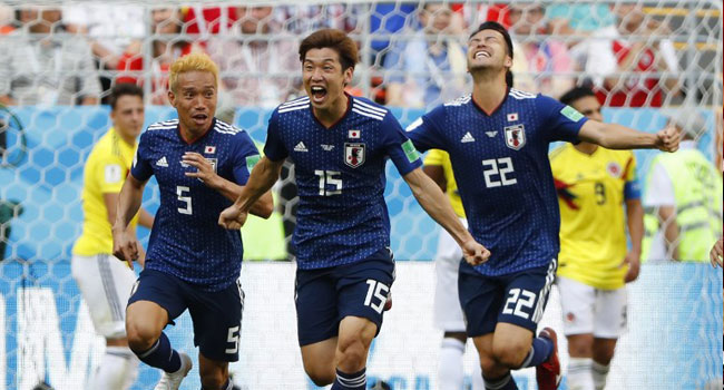 Japan Make History With World Cup Win Against 10-Man Colombia
