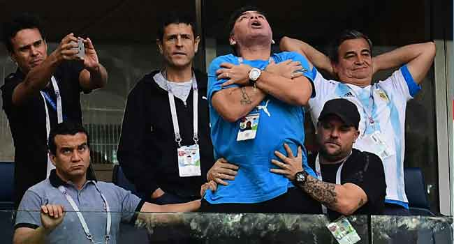Argentines Caught Between Love And Indifference For Maradona