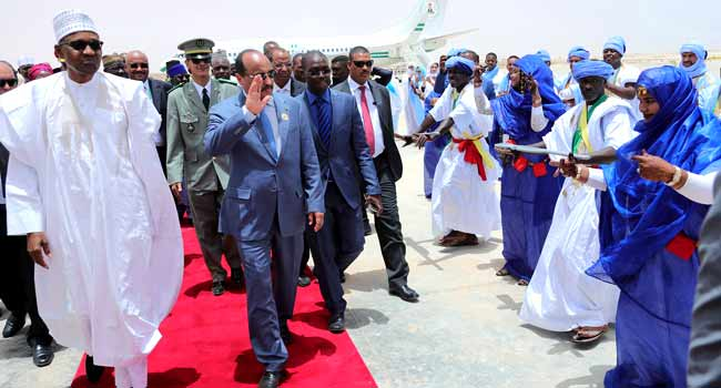 President Buhari In Mauritania For AU Summit