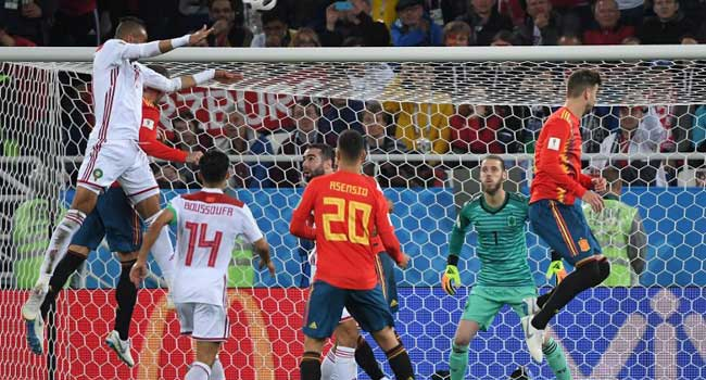 BREAKING: Spain Force Morocco To 2-2 Draw