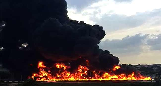 Lagos tanker fire: Nine bodies recovered, 54 vehicles burnt