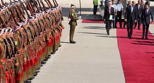 Prince William Makes Historic Visit To Jordan