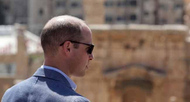 Prince William Visits Jordan's Roman Ruins At Jerash