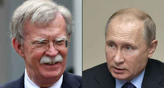 US Security Chief Bolton In Russia For Talks On Nuclear Treaty