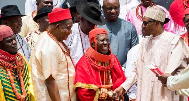 Urhobo Traditional Rulers Visit Buhari In Abuja