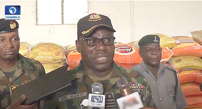 Nigerian Navy Intercepts Ship Smuggling Over 2,000 Bags Of Rice