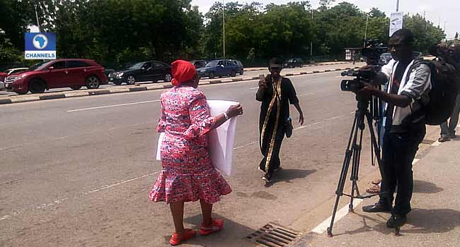 Killings: Ezekwesili Marches To Presidential Villa In Solo Protest