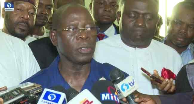 Oshiomhole Assures TUC Of Buhari's Commitment To Improve Minimum Wage