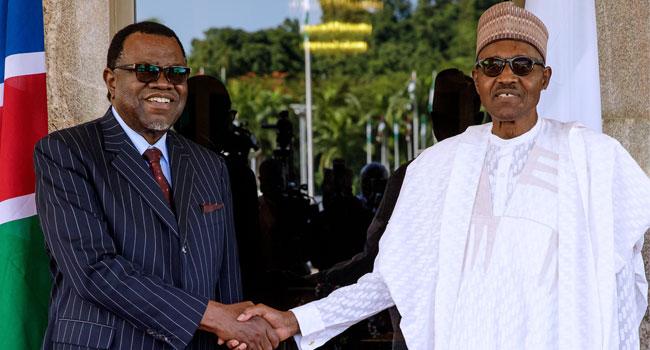Buhari, Namibia President Geingob Meet In Abuja
