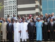 President Muhammadu Buhari (3rd left) among other African leaders during the official opening of the 31st Session of African Union (AU) in Nouakchott, Mauritania.