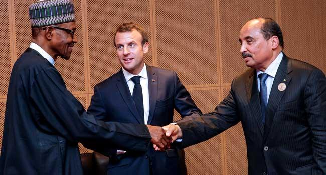 PHOTOS: President Buhari And Macron, African Leaders In Mauritania