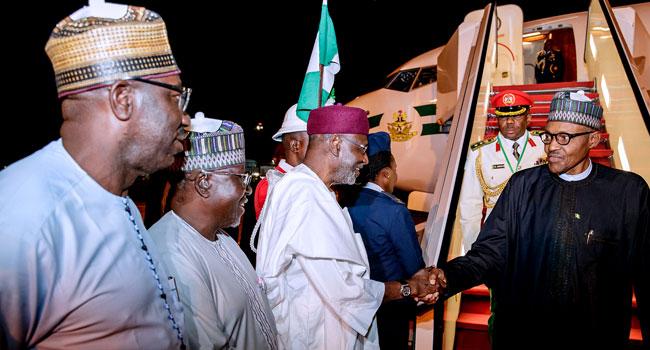 President Buhari Returns To Abuja After AU Summit