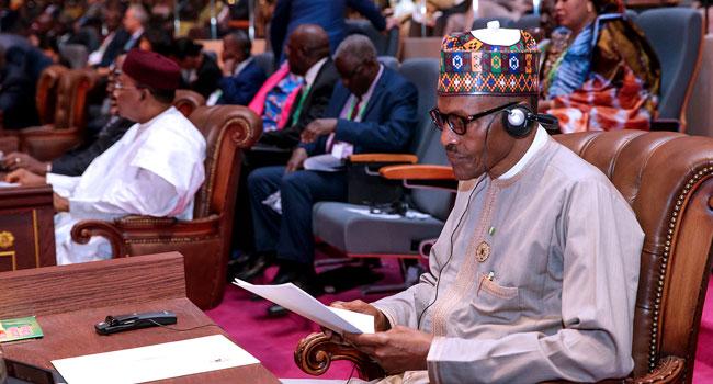 PHOTOS: President Buhari Attends AU Summit In Mauritania