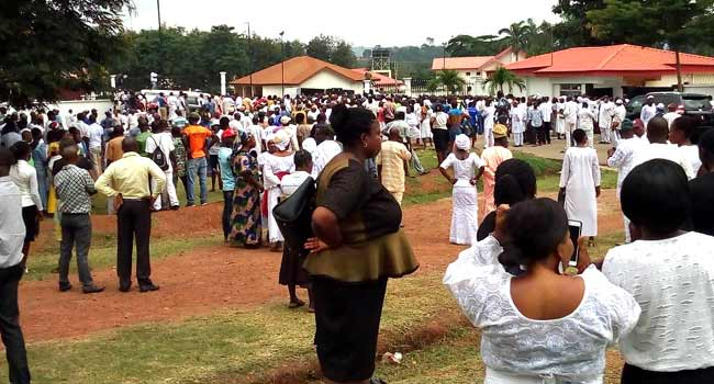 BREAKING! Ekiti Election: Security Operatives Disperse PDP Supporters From Rally Venue
