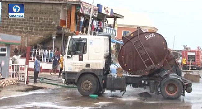 Tragedy Averted In Ekiti As Fuel Tanker Spills Content
