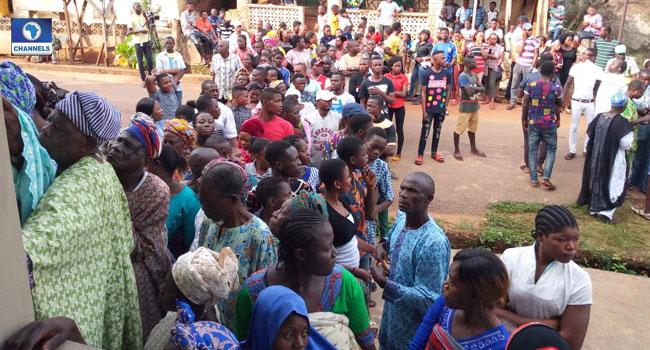 #EkitiDecides2018: Large Turnout In Ado-Ekiti For Gov Election