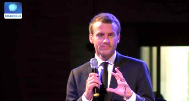 French President Holds Interactive Session With Entrepreneurs In Lagos