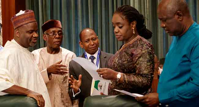 PHOTOS: Adeosun, Ogbeh, Others At Today's FEC Meeting