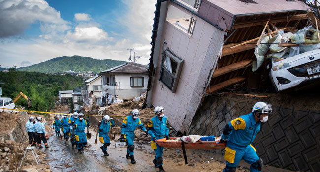 Prime Minister Meets Survivors, As Rain Disaster Kills 204 In Japan