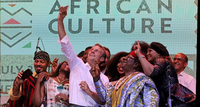 Macron Has Fun At Afrika Shrine With Femi, Angelique Kidjo, Ambode, Others