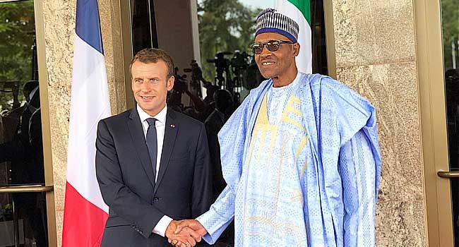 Buhari Receives French President, Emmanuel Macron In Abuja