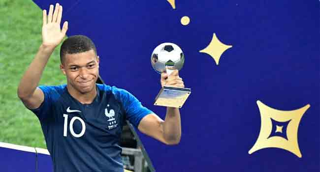 France's Kylian Mbappe Wins World Cup Young Player Award