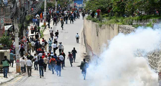 Dozens Injured In Police Clashes At Nepal Health Care Protest