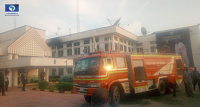 Fire Guts Aregbesola's Office In Oshogbo