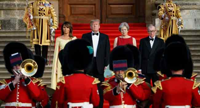 Britain Rolls Out Red Carpet For Trump Despite Planned Protests