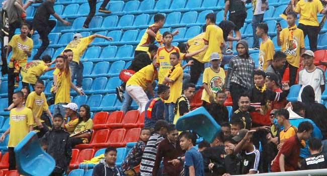 Indonesia Football Fans Damage Asian Stadium