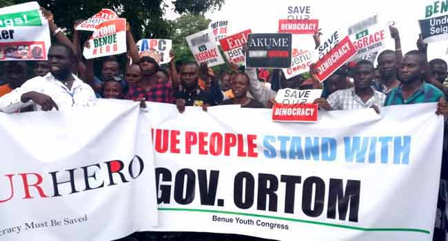Youths Protest In Benue, Accuse Police Of Brutality, Bias