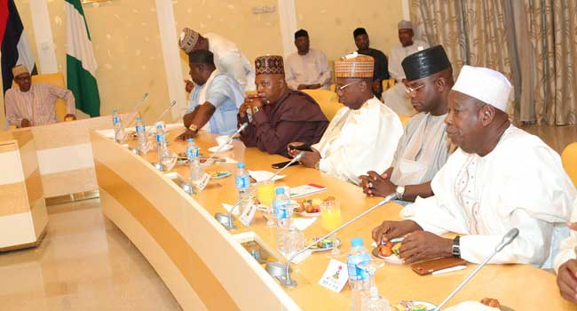Buhari's Meeting With APC Governors In Pictures