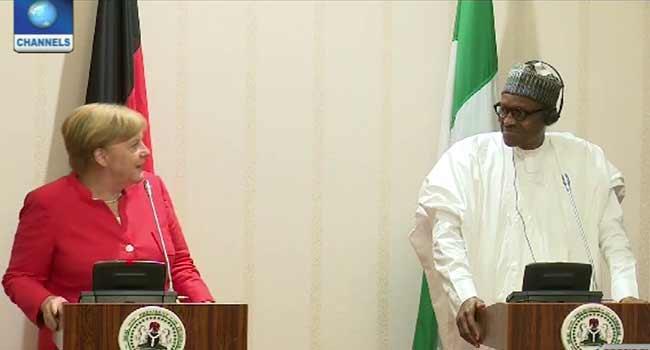 Buhari, Merkel Address Press Conference in Abuja