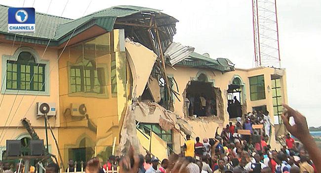 PHOTOS: Oyo Govt Demolishes Fresh FM Building In Ibadan