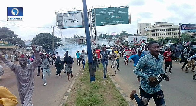 Police Disperse Protesting Students With Tear Gas