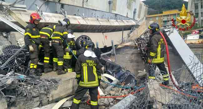 Italian Bridge Collapse Death Toll Hits 30