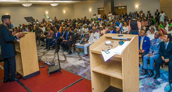 Osinbajo Holds Town Hall Meeting With Nigerians Based In U.S.