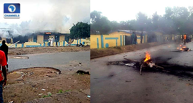 Youths Set Police Station Ablaze In Osun