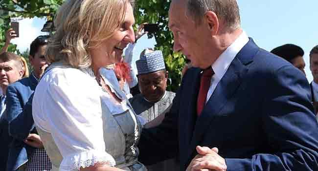 Austria FM Bowing To Putin At Wedding Dance Goes Viral