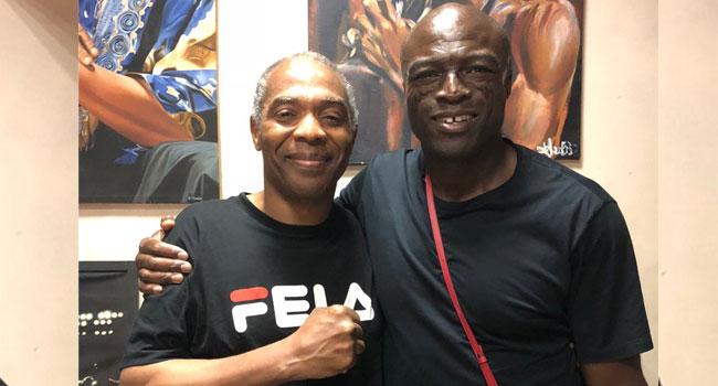 British Singer, Seal Visits Afrika Shrine