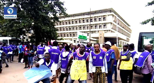 Electricity Workers Picket Ministry, Demand Sack Of TCN MD