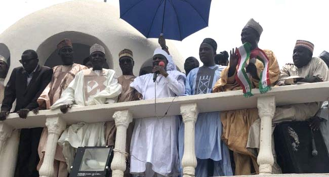 PHOTOS: Supporters Flood Sokoto Govt House As Tambuwal Dumps APC
