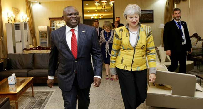 Theresa May Visits Lagos, Meets With Ambode