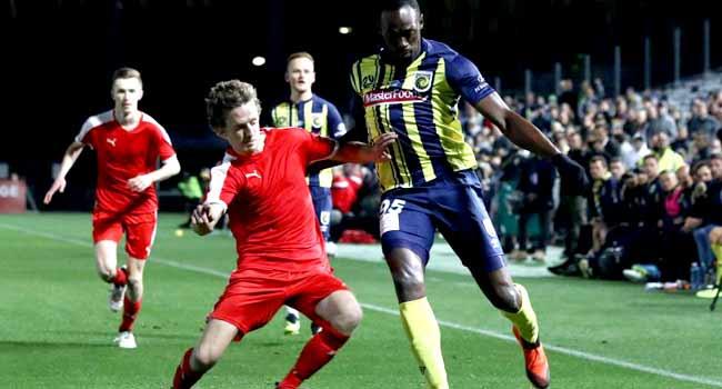 Usain Bolt Makes Football Debut In Pre-season Match
