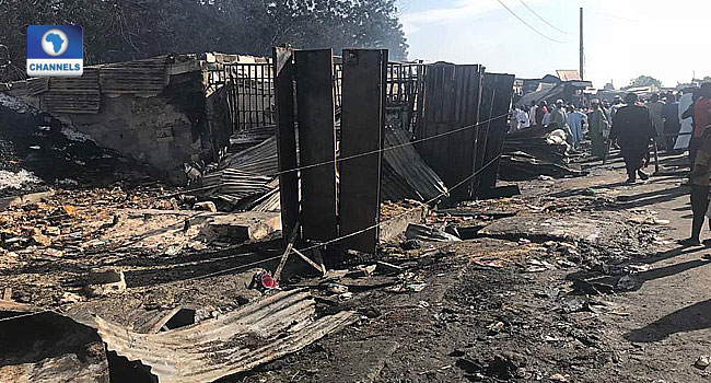 Fire Destroys At Least 10 Shops In Borno Market
