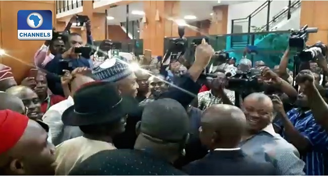 Siege: Saraki Arrives National Assembly To Cheers