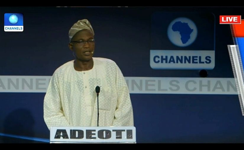 #OsunDebate: I'm Ready To Correct Lapses In Implementation Of Policies – Adeoti