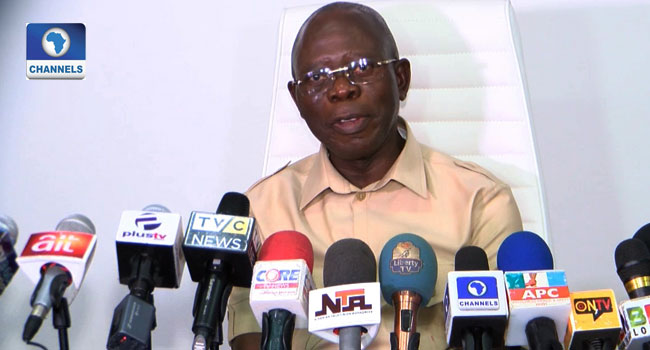 Osun Election: How We Secured A Deal With SDP, Omisore – Oshiomhole