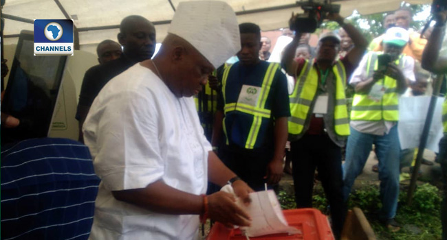 PDP's Adeleke Votes, Insists He Has All It Takes To Win