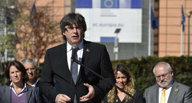 Spain Issues New Arrest Warrant For Catalan Ex-President Puigdemont